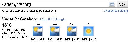 Väder Göteborg
