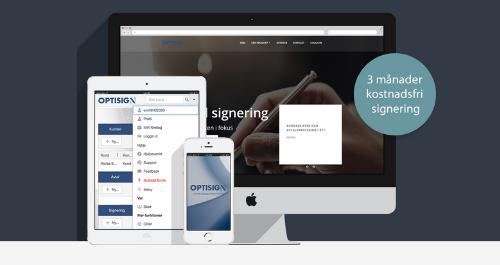 3 månader fri digital signering med Optisign